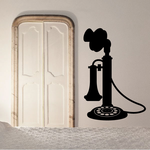 Candle Stick Rotary Telephone Decal