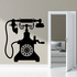 Hand Crank Cradle Telephone Decal