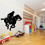 Rodeo Cowboy Riding Horse Decal