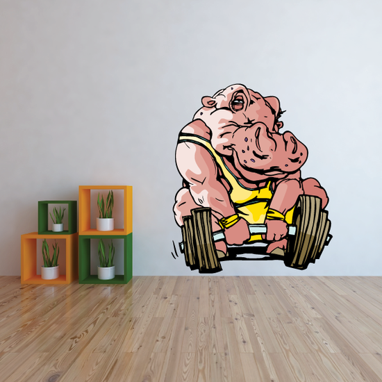 Weight Lifting Wall Decal - Vinyl Sticker - Car Sticker - Die Cut Sticker - CDSCOLOR009