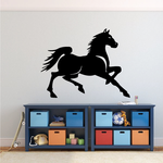 Loping Horse Decal