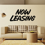 Now Leasing Wall Decal - Vinyl Decal - Car Decal - Business Sign - MC650