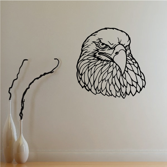 Serious Eagle Head Decal