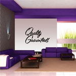 Quality Guaranteed Wall Decal - Vinyl Decal - Car Decal - Business Sign - MC652
