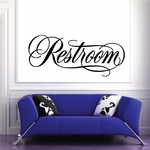 Restroom Wall Decal - Vinyl Decal - Car Decal - Business Sign - MC653