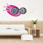 Weight Lifting Wall Decal - Vinyl Sticker - Car Sticker - Die Cut Sticker - CDSCOLOR015