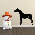 Neck Leaning Forward Horse Decal