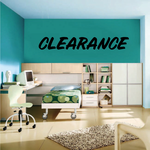 Clearance Wall Decal - Vinyl Decal - Car Decal - Business Sign - MC661