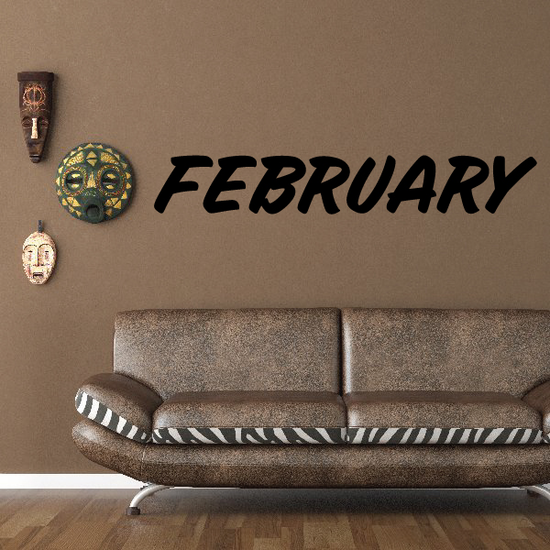 February Wall Decal - Vinyl Decal - Car Decal - Business Sign - MC664