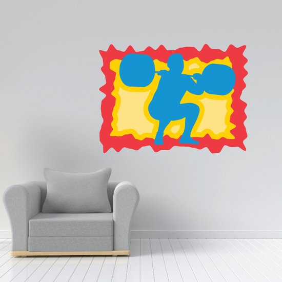 Weight Lifting Wall Decal - Vinyl Sticker - Car Sticker - Die Cut Sticker - CDSCOLOR024