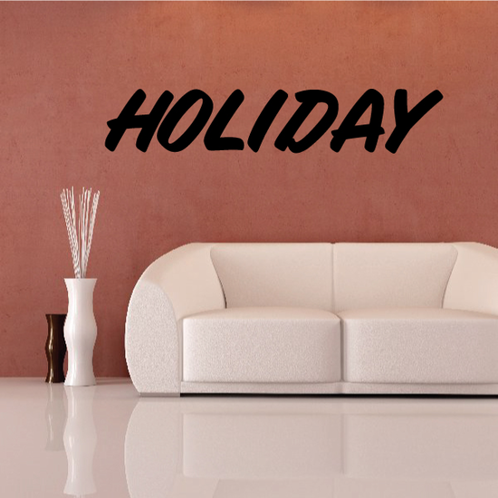 Holiday Wall Decal - Vinyl Decal - Car Decal - Business Sign - MC665