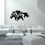 Two Horse Heads Decal