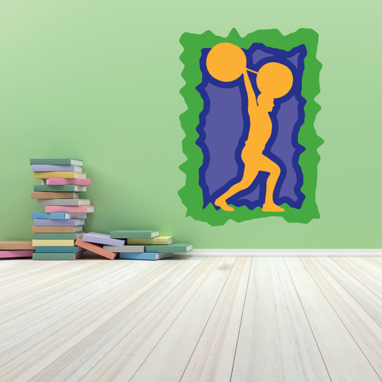 Weight Lifting Wall Decal - Vinyl Sticker - Car Sticker - Die Cut Sticker - CDSCOLOR026