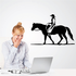 Serene Rodeo Cowboy Riding Horse Decal