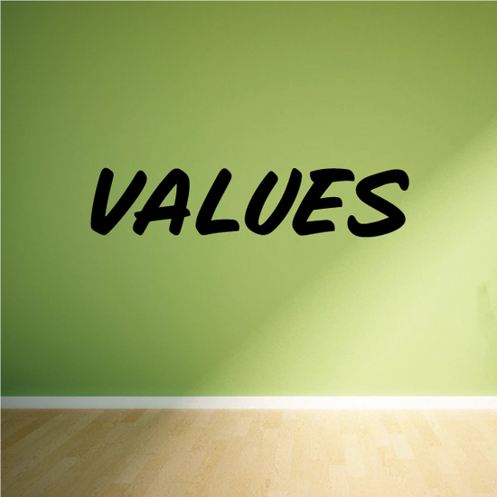 Values Wall Decal - Vinyl Decal - Car Decal - Business Sign - MC681