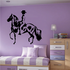 Girl Riding Horse Decal