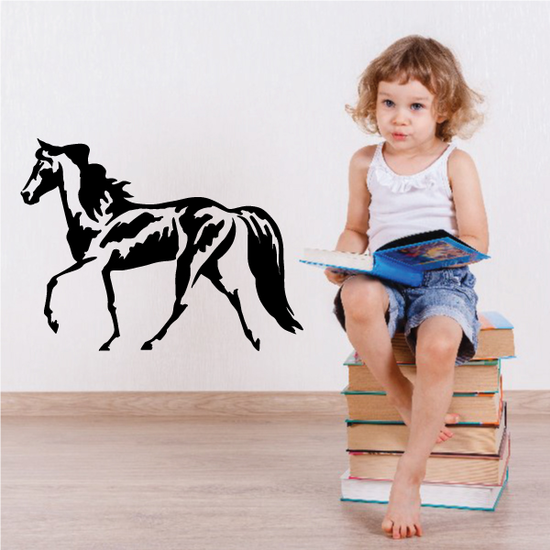 Expressive Style Horse Decal