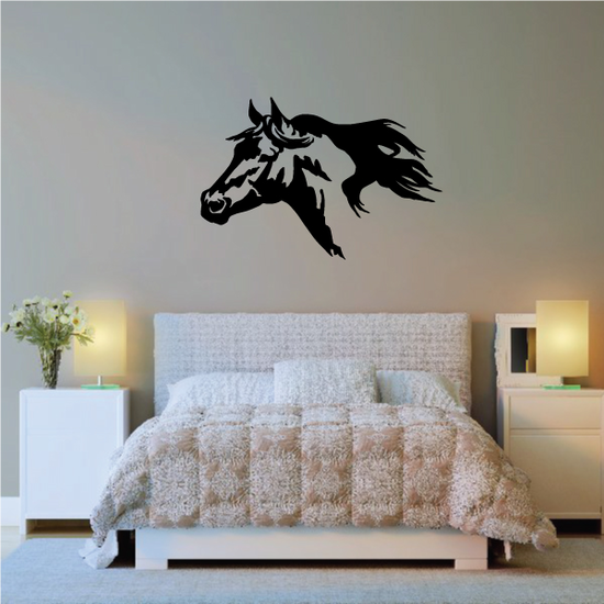 Expressive Style Horse Head Decal