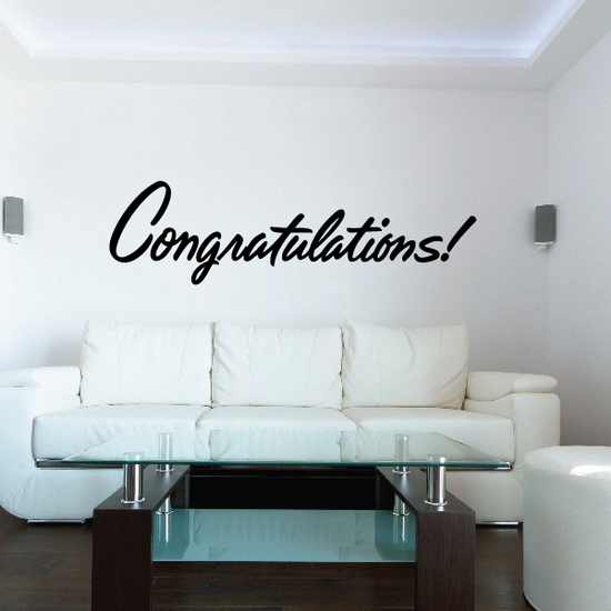 Congratulations Wall Decal - Vinyl Decal - Car Decal - Business Sign - MC687