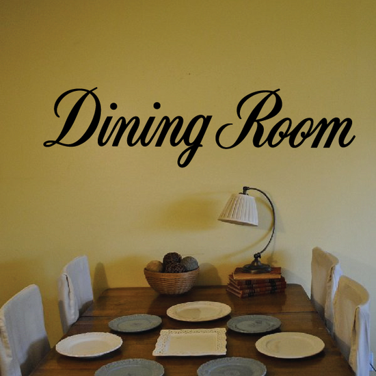 Dining Room Wall Decal - Vinyl Decal - Car Decal - Business Sign - MC688