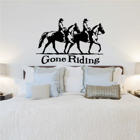 Gone Riding Horses and Riders Decal