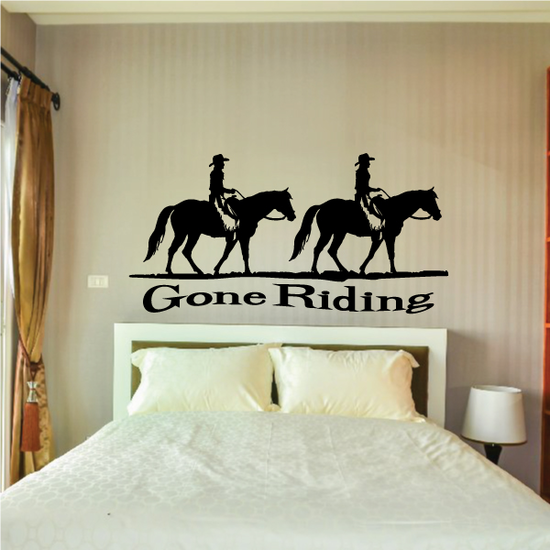 Gone Riding Horses Strolling Decal