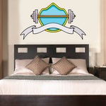 Weight Lifting Wall Decal - Vinyl Sticker - Car Sticker - Die Cut Sticker - CDSCOLOR040