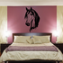 Darling Long Haired Horse Head Decal