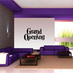 Grand Opening Wall Decal - Vinyl Decal - Car Decal - Business Sign - MC695