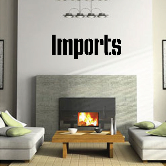 Imports Wall Decal - Vinyl Decal - Car Decal - Business Sign - MC698