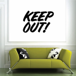 Keep Out Wall Decal - Vinyl Decal - Car Decal - Business Sign - MC699