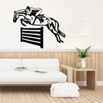 Jumping Fence Horses Wall Decal - Vinyl Decal - Car Decal - MC075