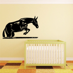Horse Leaping Over Bar Decal