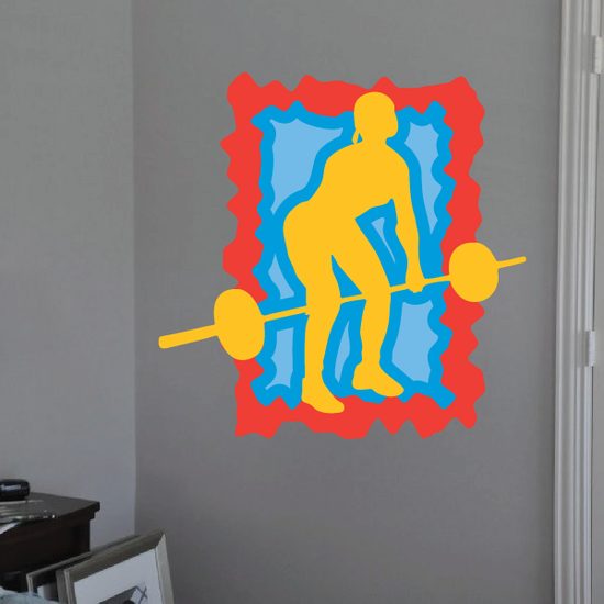 Weight Lifting Wall Decal - Vinyl Sticker - Car Sticker - Die Cut Sticker - CDSCOLOR045