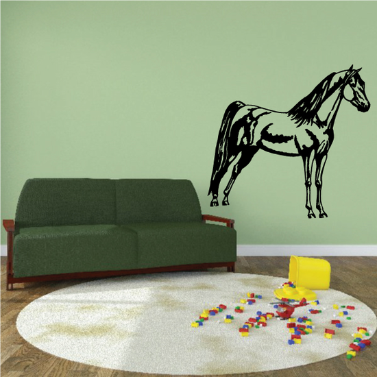 Slim Standing Horse Decal