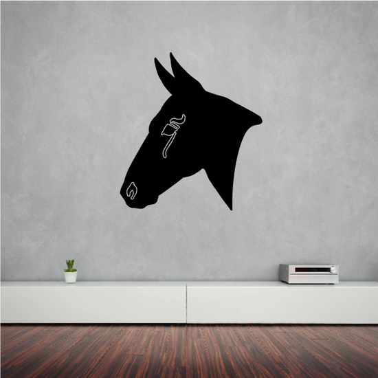 Pointy Eared Horse Head Decal
