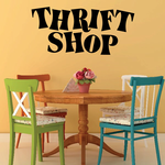 Thrift Shop Wall Decal - Vinyl Decal - Car Decal - Business Sign - MC708