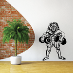 Weight Lifting Wall Decal - Vinyl Decal - Car Decal - CDS003