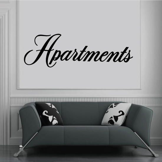 Apartments Wall Decal - Vinyl Decal - Car Decal - Business Sign - MC711