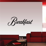 Breakfast Wall Decal - Vinyl Decal - Car Decal - Business Sign - MC713
