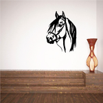 Looking Horse with Bridle Decal