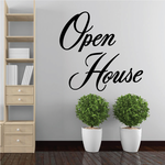 Open House Wall Decal - Vinyl Decal - Car Decal - Business Sign - MC726