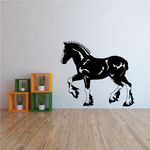 Trotting Shire Horse Decal