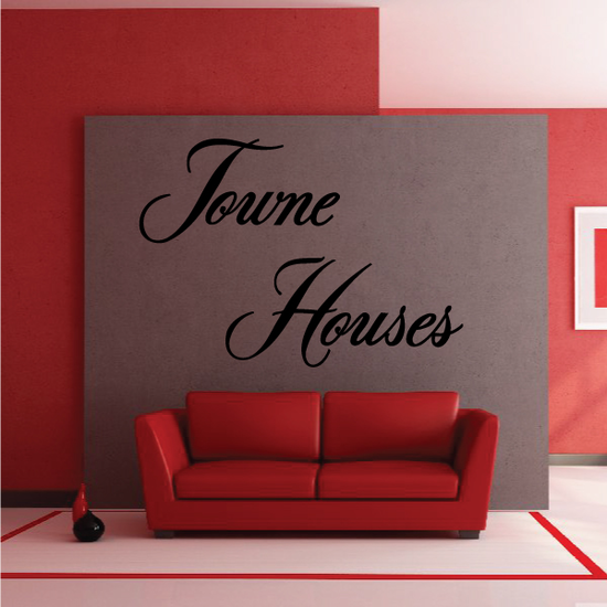 Towne Houses Wall Decal - Vinyl Decal - Car Decal - Business Sign - MC733
