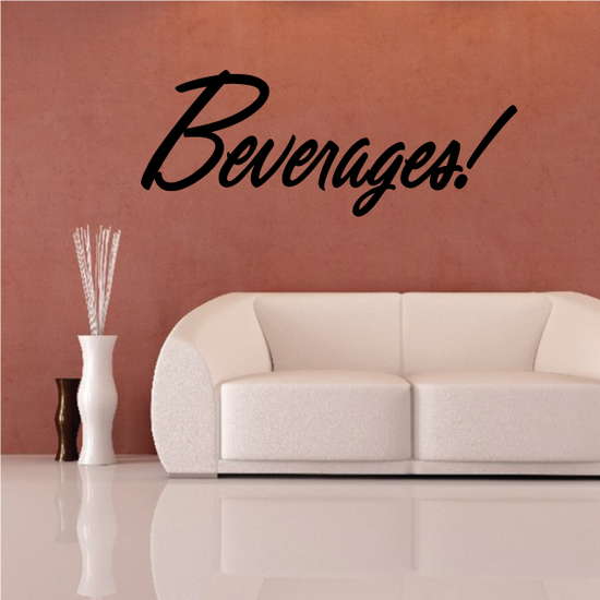 Beverages Wall Decal - Vinyl Decal - Car Decal - Business Sign - MC737