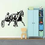 Carriage Racing Horse Decal