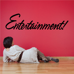 Entertainment Wall Decal - Vinyl Decal - Car Decal - Business Sign - MC739