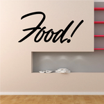 Food Wall Decal - Vinyl Decal - Car Decal - Business Sign - MC741