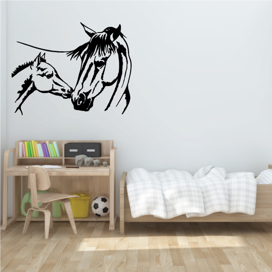 Mom And Foal Horse Kiss Decal