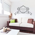 Weight Lifting Wall Decal - Vinyl Decal - Car Decal - CDS026